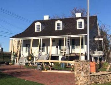Meadow Garden porch restoration