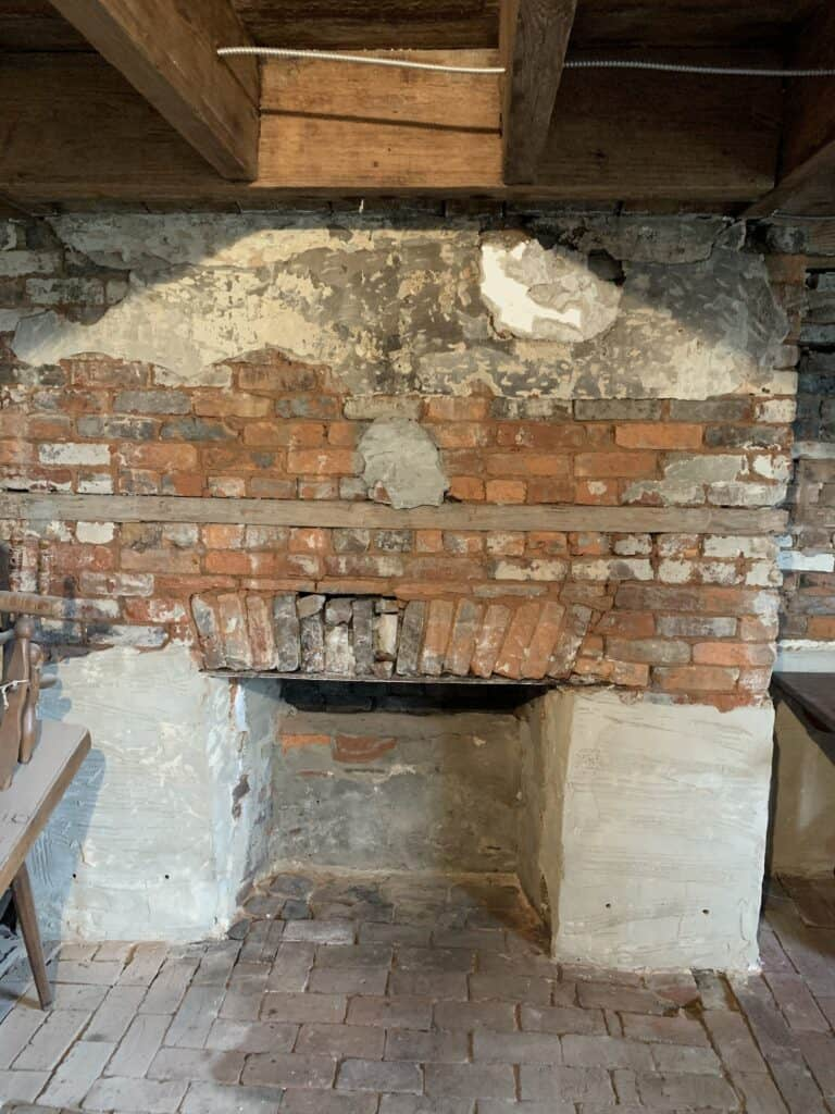 Meadow Garden Historic Weaving Room Fireplace