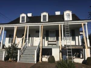 Historic Porch Restoration - deconstruction