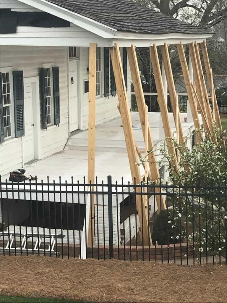 Meadow Garden Historic Porch Restoration Decking