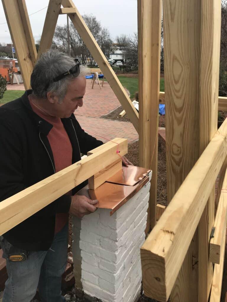 Meadow Garden Historic Porch Restoration Construction