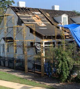Meadow Garden Historic Roof Restoration Scaffolding