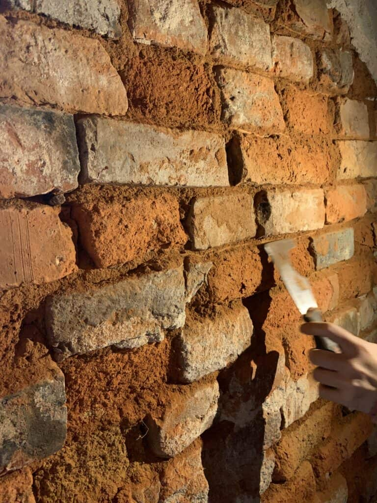 Repointing Cellar Walls - Before
