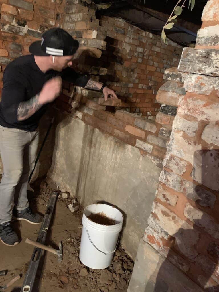 Pass Through Brick Work